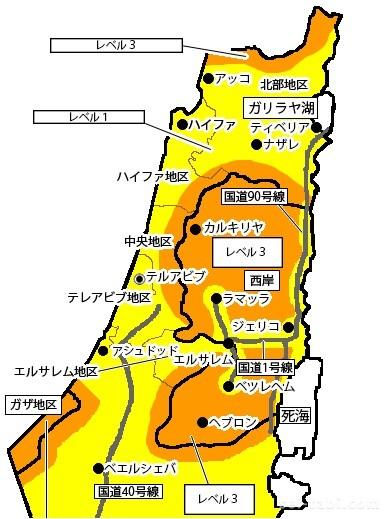 パレスチナ地図